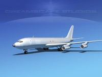 3d model of 707-320 airlines boeing 707