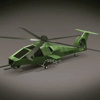3d model of army helicopter
