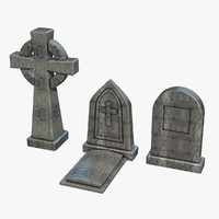gravestones pack 3 3d dxf
