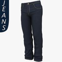 mans jeans 3d max