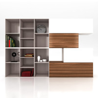 3d lugano wall shelving