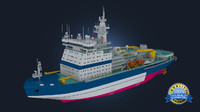 icebreaker ice arctic 3d model
