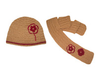 Knitted Baby hat and scarf set 4