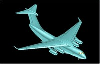 3ds max china y-20 transport aircraft