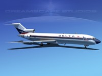 3ds max airline boeing 727 727-200