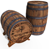 3ds max whiskey barrel s