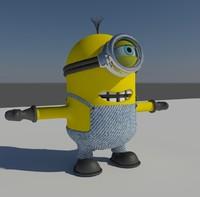 3d model minion rendering