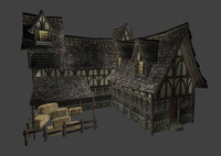 3d model medieval town