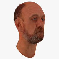 max male head 20 hair