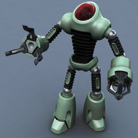 3d model rigged toons robot