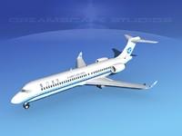 3dsmax comac arj21 airliner arj21-700