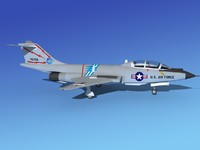 f-101 voodoo jet fighters 3d max