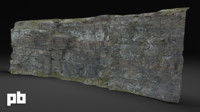 3d rock surface model