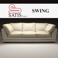 3d model satis sofa swing