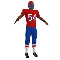football player 2 3d max