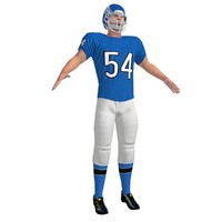 football player 3d max