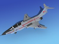 3d model of f-101 voodoo jet fighters
