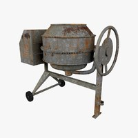 3d model cement mixer
