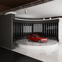 3d car exhibition stand