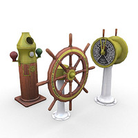 3d model of ships bridge pack wheel