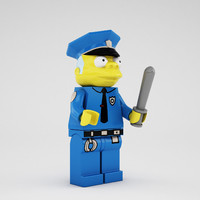 lego chief clancy wiggum 3d 3ds