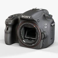 low-poly sony slt-a58 3d model