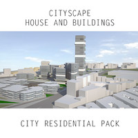 Cityscape House and Building. City Residential Pack