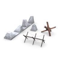 3d obstacles concrete block