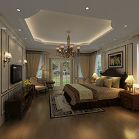 3d bedroom room bed