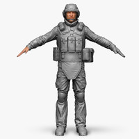 qualitative zbrush soldier bundeswehr 3d model