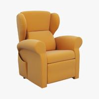 3d max armchair berge chair