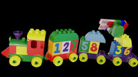 3d obj toy duplo number train
