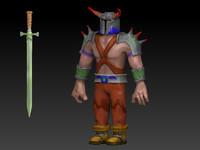 barbarian toon obj