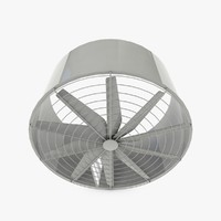 3d big industrial fan model