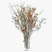wild flowers vase 3d 3ds