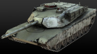 m1 abrams tank 3d model