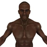 realistic muscular male 3d model