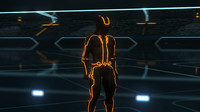 Tron Legacy CLU  [ Light Bike Rider ] UNPOSED with separate Glow lines