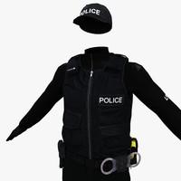 3d police patrol model