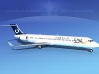 3d lwo comac airliner