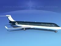 comac airliner 3d model