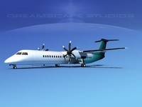 dhc-8-400 400 3d max