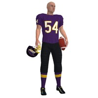 Football Player 3 LOD1 Rigged