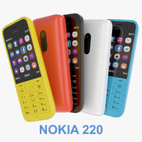 new nokia 220 black 3d model