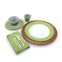 tableware plate bowl 3d model