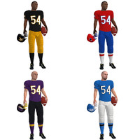 3d rigged football players