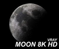 Moon Vray High Definition