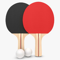 realistic ping pong paddle 3d model