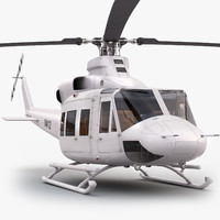 eurocopter bell 412 generic 3d model
