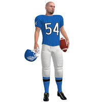 3d football player rigged model